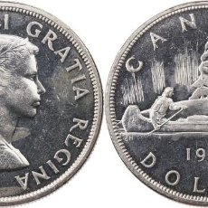 Monedas antiguas de América: CANADA 1 DOLAR (DOLLAR) PLATA 1963 S/C. Lote 145307196