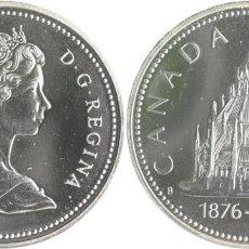 Monedas antiguas de América: CANADA DOLAR (DOLLAR) PLATA 1976 ELIZABETH II - BIBLIOTECA DEL CONGRESO FDC KM106. Lote 145307272
