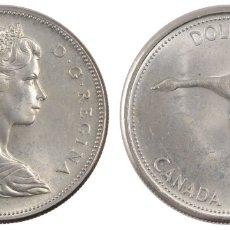 Monedas antiguas de América: CANADA 1 DOLAR (DOLLAR) PLATA 1967 CENTENARIO DE LA CONFEDERACION (PATO VOLANDO). Lote 50412063