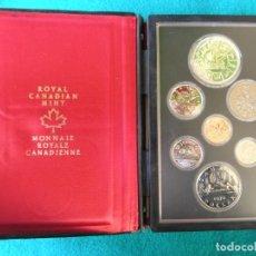 Monedas antiguas de América: ESTUCHE PRESTIGE 7 MONEDAS DE CANADÁ - 1978 - CALIDAD BRILLO UNIVERSAL -. Lote 108144007