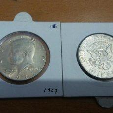 Monedas antiguas de América: MONEDA PLATA HALF DOLAR USA 1967. Lote 108789512
