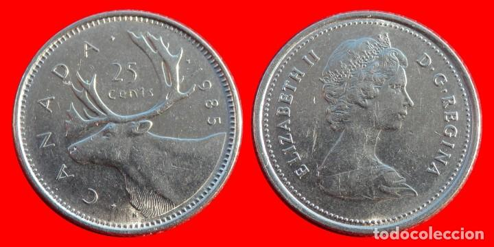 25 centavos centimos cents 1985 canada 6938t co - Sold