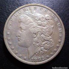Monedas antiguas de América: DOLAR USA (ESTADOS UNIDOS) DE PLATA 1882 O (NUEVA ORLEANS). Lote 265963873
