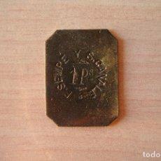 Monedas antiguas de América: HONDURAS TOKEN DE FINCA DE CAFÉ F SEMPE Y S CANALE 1 PESO MUY ESCASA Y DIFICIL DE CONSEGUIR VER FOTO. Lote 109566635