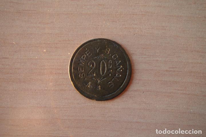 Monedas antiguas de América: HONDURAS TOKEN DE FINCA DE CAFÉ F SEMPE Y S CANALE. 20 CENTAVOS CÉNTIMOS. DIFICIL Y RARA. VER FOTOS - Foto 5 - 109567103