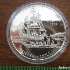 Monedas antiguas de América: 1 DOLLAR CANADA 1999 PROOF PLATA 925. Lote 120634360