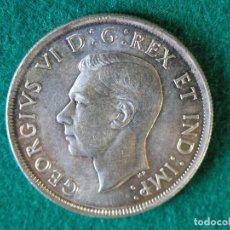 Monedas antiguas de América: MONEDA 1 DÓLAR CANADA - 1939 - GEORGE VI - PLATA 800 - EBC+. Lote 109641447