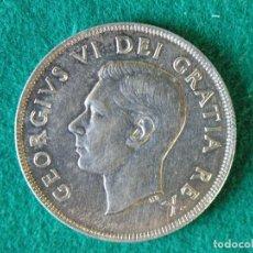 Monedas antiguas de América: MONEDA 1 DÓLAR CANADA - 1949 - GEORGE VI - PLATA 800 - EBC+. Lote 109641775
