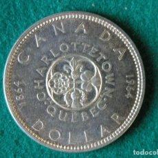 Monedas antiguas de América: MONEDA 1 DÓLAR CANADA - 1964 - ELIZABETH II - PLATA 800 - EBC+. Lote 109642443