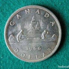 Monedas antiguas de América: MONEDA 1 DÓLAR CANADA - 1966 - ELIZABETH II - PLATA 800 - EBC+. Lote 109642871