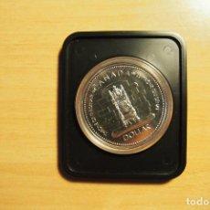 Monedas antiguas de América: MONEDA UN DOLAR CANADA 1952 1977 TRONO JUBILEO ELIZABETH II 1 DOLLAR ENCAPSULADA VER FOTOGRAFIAS. Lote 110125635