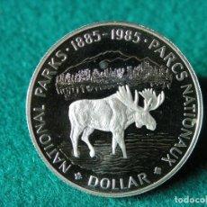 Monedas antiguas de América: 1 DÓLAR CANADÁ - 1985 - ELIZABETH II - PLATA 500 - PROOF. Lote 110244471