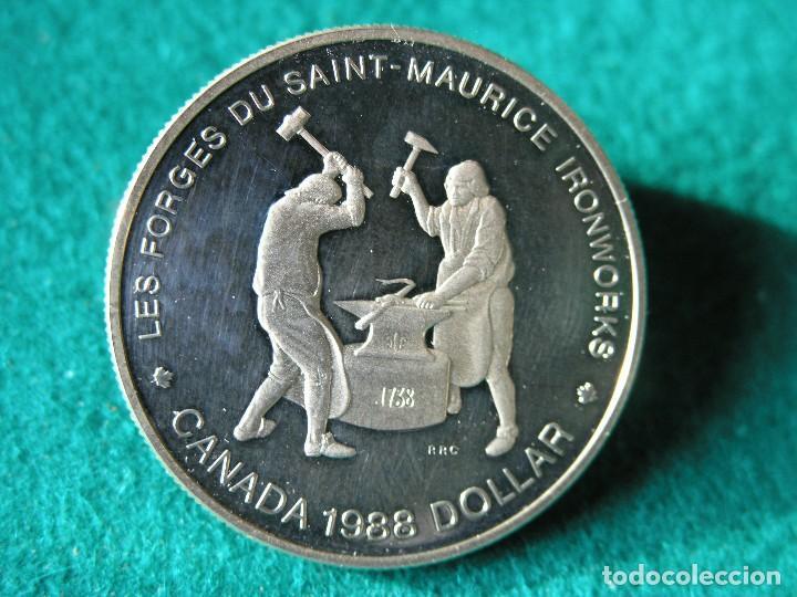 1 DÓLAR CANADÁ - 1988 - ELIZABETH II - PLATA 500 - PROOF (Numismática - Extranjeras - América)