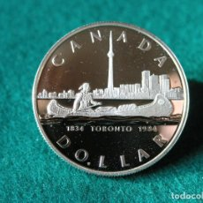 Monedas antiguas de América: 1 DÓLAR CANADÁ - 1984 - ELIZABETH II - PLATA 500 - PROOF. Lote 110244751