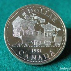 Monedas antiguas de América: 1 DÓLAR CANADÁ - 1981 - ELIZABETH II - PLATA 500 - PROOF. Lote 110244899