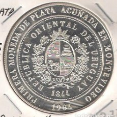 Monedas antiguas de América: MONEDA DE 2000 NUEVOS PESOS DE URUGUAY DE 1984. PLATA. PROOF. (ME42). Lote 110347367