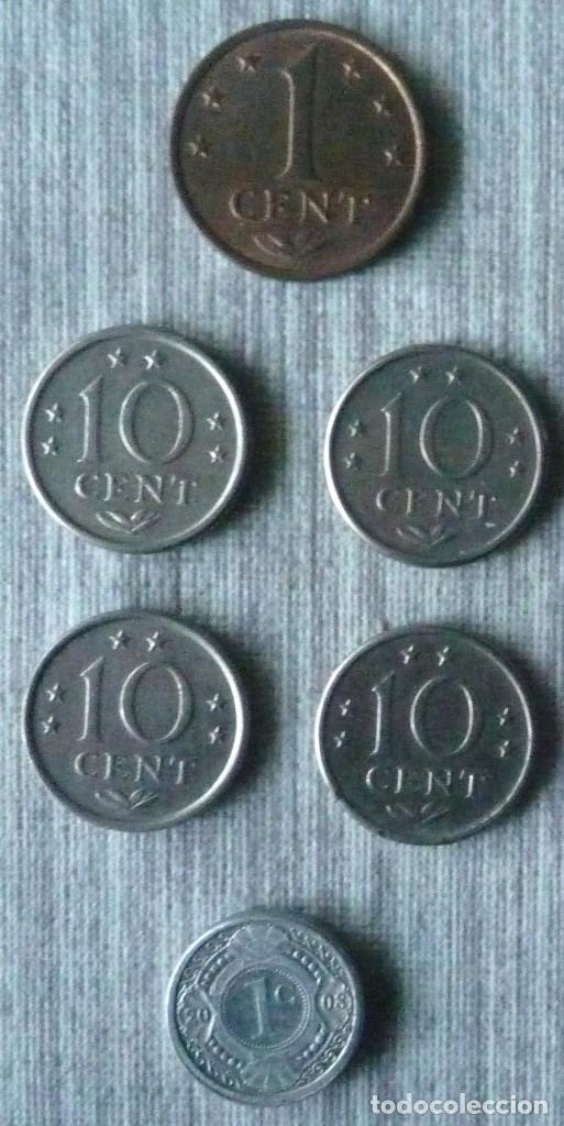 LOTE DE 6 MONEDAS DE LAS ANTILLAS NEERLANDESAS (Numismática - Extranjeras - América)