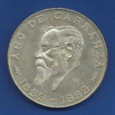 Monedas antiguas de América: MÉXICO 5 PESOS PLATA 1959 CENTENARIO DE CARRANZA S/C. Lote 146606052