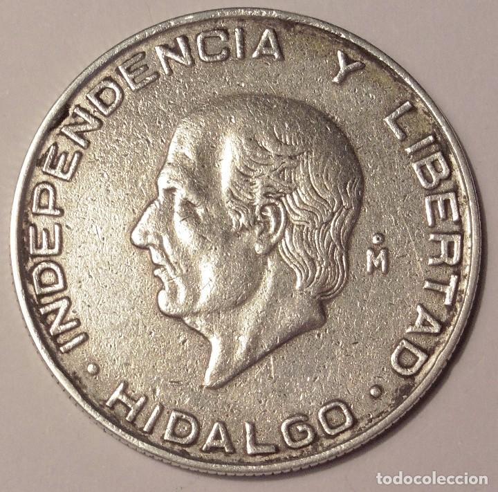 MONEDA DE 5 PESOS MEXICANOS, PLATA HIDALGO 1956 (Numismática - Extranjeras - América)