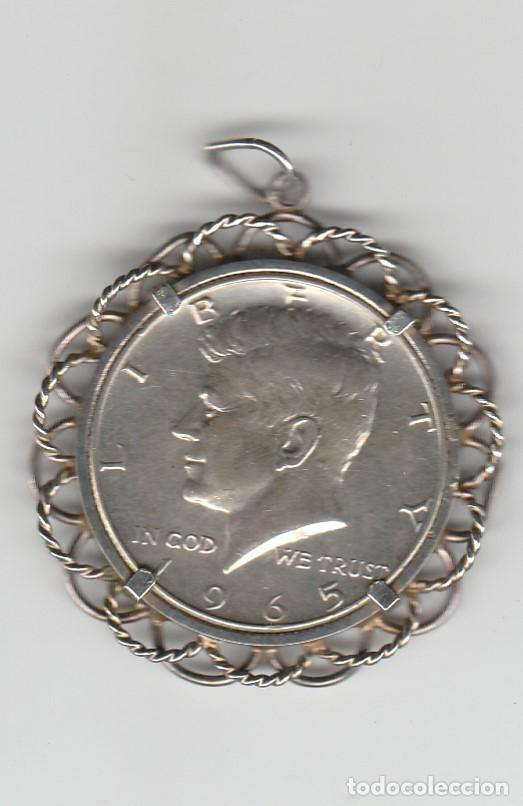 ESTADOS UNIDOS-1/2 DOLAR KENNEDY-1935-CON ENGARCE DE PLATA (Numismática - Extranjeras - América)