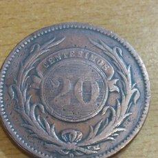 Monedas antiguas de América: MONEDA URUGUAY 20 CÉNTIMO 1857. Lote 111234735