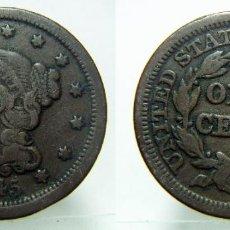 Moedas antigas da América: MONEDA DE ESTADOS UNIDOS ONE CENT 1 CENTIMO 1845 TAMAÑO GRANDE 13 ESTRELLAS RARA. Lote 150043582