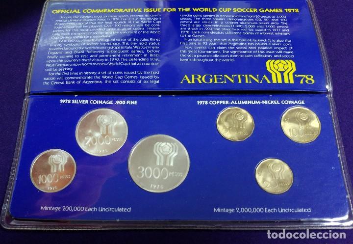 Juego completo de 6 monedas del mundial de arge - Sold at