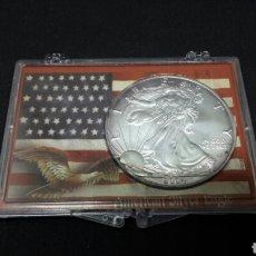 Monedas antiguas de América: 1 DOLAR ESTADOS UNIDOS ,ONZA DE PLATA PURA 2004. Lote 112211290
