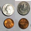 Monedas antiguas de América: 4 MONEDAS DE ESTADOS UNIDOS . Lote 112570567
