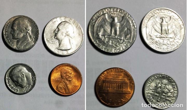 4 MONEDAS DE ESTADOS UNIDOS (Numismática - Extranjeras - América)