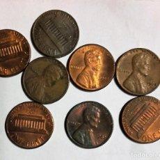 Monedas antiguas de América: 8 MONEDAS DE 1 CENT DOLLAR USA , LINCOLN VARIOS AÑOS . Lote 112570695