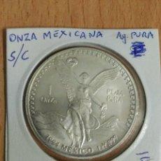 Monedas antiguas de América: ONZA MEXICANA PLATA PURA 1994. Lote 113348535
