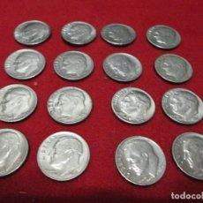 Monedas antiguas de América: 16 MONEDAS DE 1 DIME U.S.A. VARIOS AÑOS. Lote 113490391