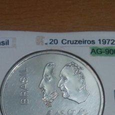 Monedas antiguas de América: BRASIL 20 CRUZEIROS PLATA 1972 SC KM583. Lote 113561231