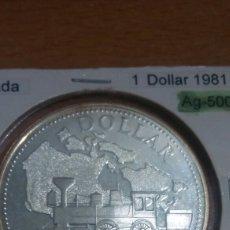 Monedas antiguas de América: CANADA PLATA 1 DÓLAR 1981 SC KM130. Lote 113565400