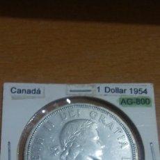 Monedas antiguas de América: CANADA PLATA 1 DÓLAR 1954 EBC KM54. Lote 113566807