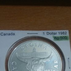 Monedas antiguas de América: CANADA PLATA 1 DÓLAR 1982 SC KM133. Lote 113567818