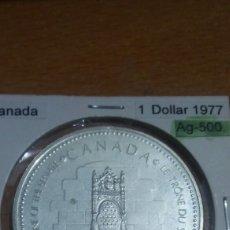 Monedas antiguas de América: CANADA PLATA 1 DÓLAR 1977 SC KM118. Lote 113568048