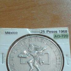 Monedas antiguas de América: MÉXICO PLATA 25 PESOS 1968 SC KM479.1. Lote 113602359