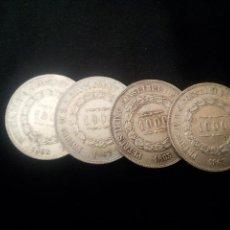 Monedas antiguas de América: BRASIL. 4 MONEDAS DE PLATA DE 1000 REIS DE 1862 Y 1863. Lote 114104763