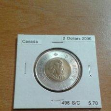 Monedas antiguas de América: CANADA 2 DÓLARES 2006 SC KM496. Lote 114386852