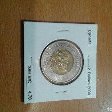 Monedas antiguas de América: CANADA 2 DÓLARES 2000 SC KM399. Lote 114389132