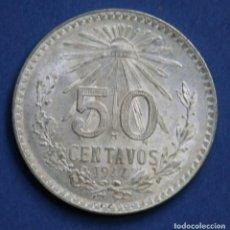 Monedas antiguas de América: MEXICO 50 CENTAVOS PLATA 1944. Lote 114697159