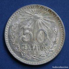 Monedas antiguas de América: MEXICO 50 CENTAVOS PLATA 1943. Lote 114697243