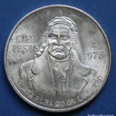 Monedas antiguas de América: MEXICO. 100 PESOS PLATA 1978. Lote 114700163