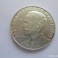 Monedas antiguas de América: CUBA* 1 PESO 1953 * PLATA. Lote 115093239