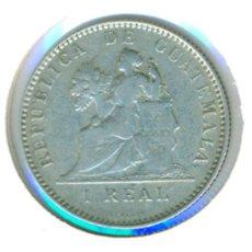 Monedas antiguas de América: GUATEMALA 1 REAL 1894 - H ( MBC- ) - PLATA. Lote 115389599