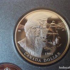 Monedas antiguas de América: SET MONEDAS CANADA 1995 1 DOLLAR DE PLATA 925. Lote 115453599