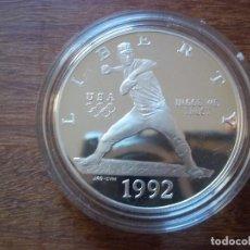 Monedas antiguas de América: ONE DOLLAR USA 1992 S PLATA TIRADA 504,505. Lote 115615307