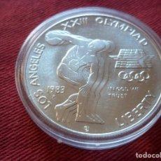 Monedas antiguas de América: ONE DOLLAR 1983 P PLATA TIRADA 294 543 1984 LOS ANGELES OLYMPICS - DISCUS.. Lote 115618503